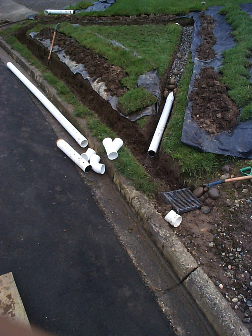 Surface drain system french drain allied waterproofing for Surface drainage system