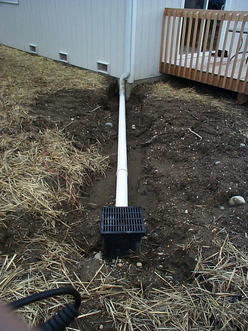 Tight line downspout drain system allied waterproofing for Downspout drain