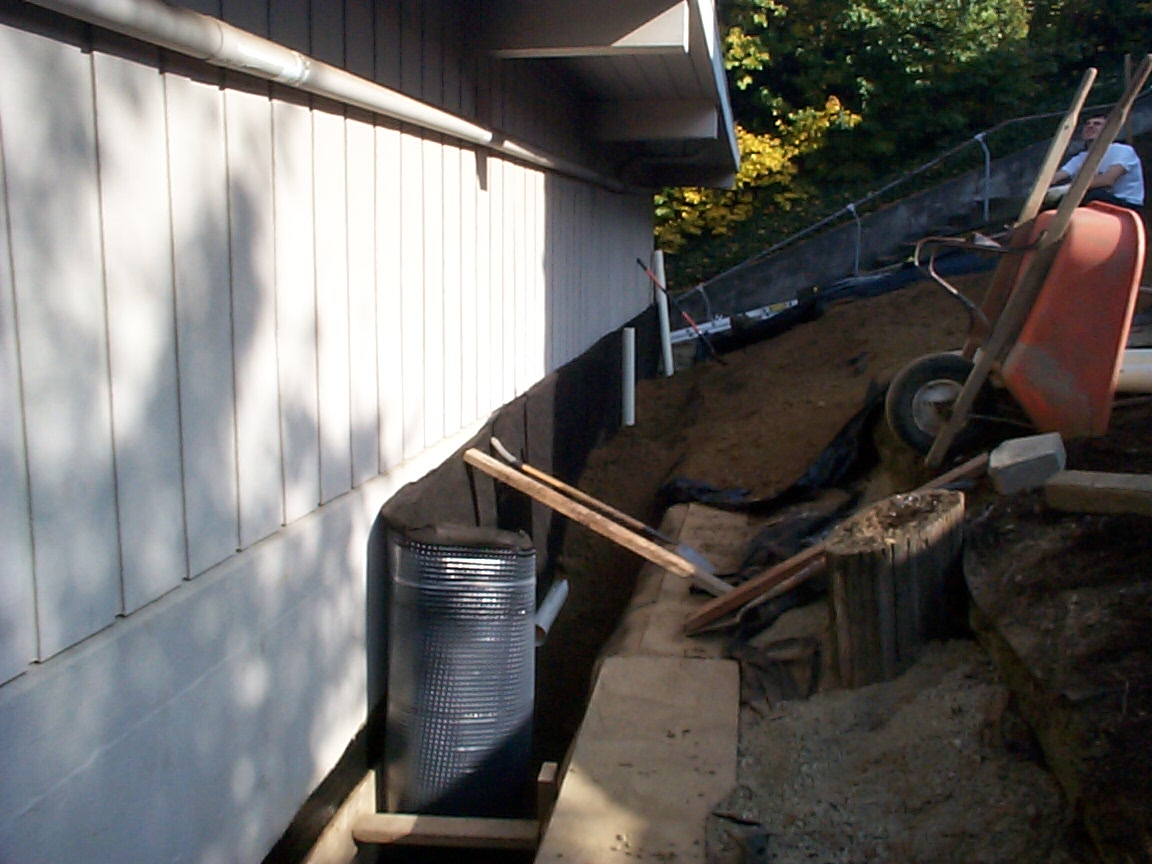 Exterior foundation footing drain for crawl space allied for Crawl space plumbing
