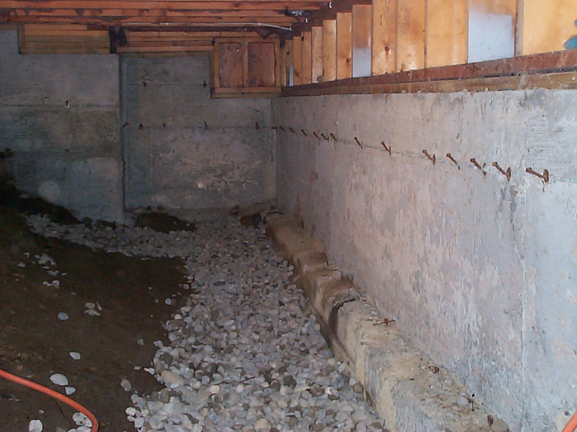 Wet crawl spaces allied waterproofing drainage for What does crawl space foundation mean