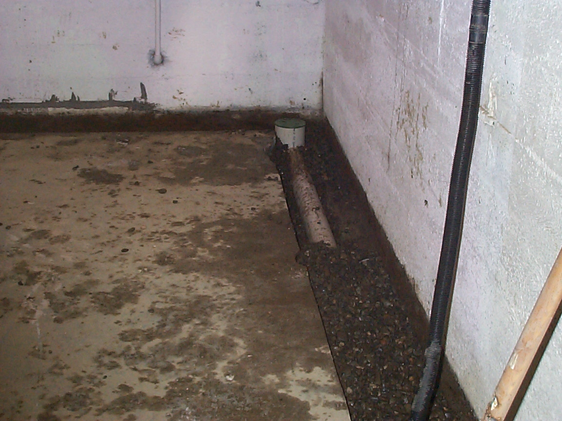 Interior foundation footing drain for basement allied - Interior basement drainage systems ...